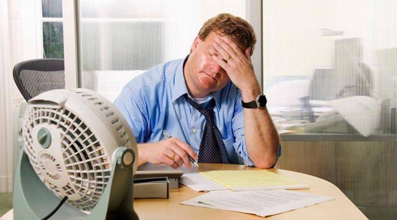 """Servidores associados denunciam altas temperaturas nos locais de trabalho. """"Uma verdadeira sauna!"""""""